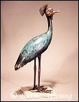 Crowned Crane Sculpture